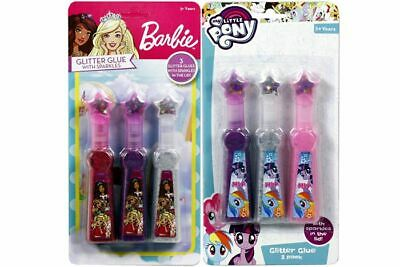Barbie & My Little Pony Glitter Glue With Sparkles 12.5cm (Pack of 3) Age 3+