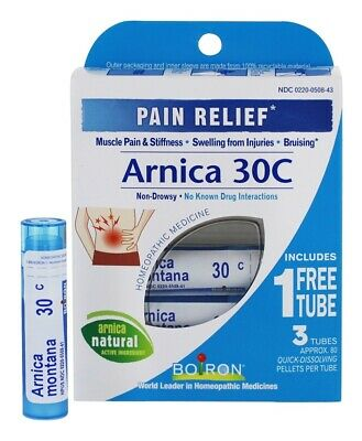 Boiron - Arnica Homeopathic Medicine for Pain Relief  30 C - 3 Tubes