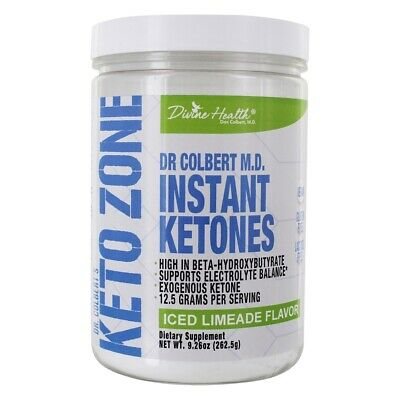 Divine Health - Dr. Colbert's Keto Zone Instant Ketones Powder Iced Limeade