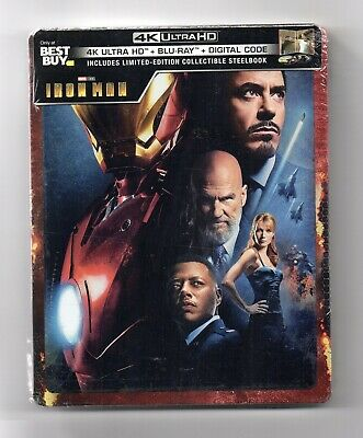 Iron Man - 4K UHD + 2D - Best Buy Exclusive Blu-ray Steelbook - NEU/OVP