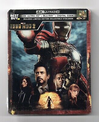 Iron Man 2 - 4K UHD + 2D - Best Buy Exclusive Blu-ray Steelbook - NEU/OVP