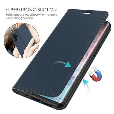 For Samsung Galaxy Note 10+ A70 Magnetic Leather Wallet Holder Flip Case Cover