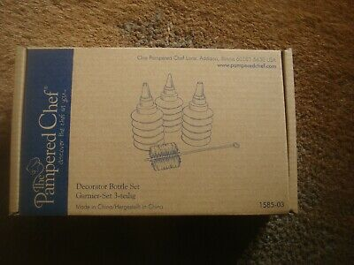 The Pampered Chef Decorator Bottle Set Un-uesd - Icing etc