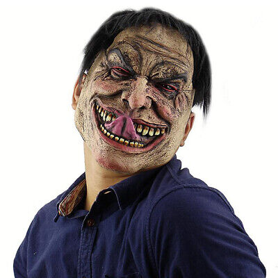 Latex Rubber Ugly Horrible Kinky Smile Face Mask For Halloween Party Costume