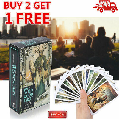 78PCS Cards Wild Wood Tarot Cards Beginner Deck Vintage Fortune Telling HOT J