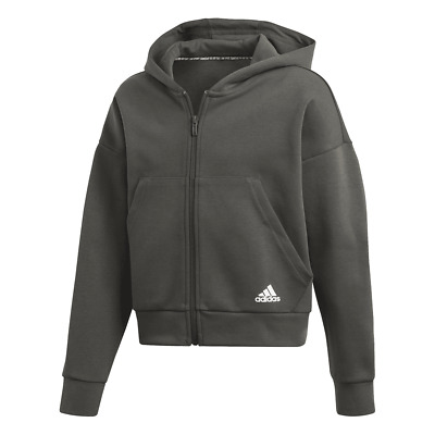 Adidas Girls Must Haves 3 Stripes Full Zip Hoodie