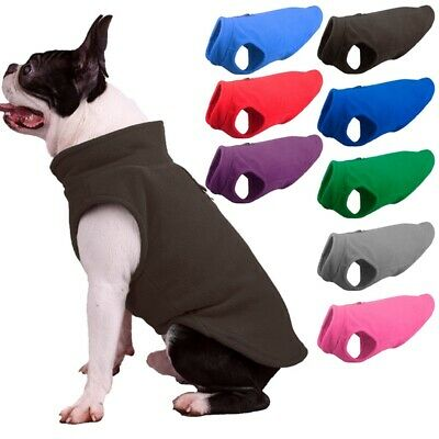 Small Pet Dog Warm Fleece Vest Coat Puppy Shirt Sweater Winter Apparel Clothes