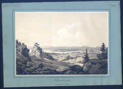 Oslo - Chistiania - Norwegen - Lithographie 1855