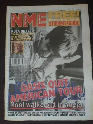 Nme - 21 September 1996 - Oasis Pj Harvey Kula Shaker Manic Street Preachers