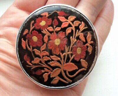 Stunning Antique 1927 Sterling / Solid Silver & Enamel Compact / Box