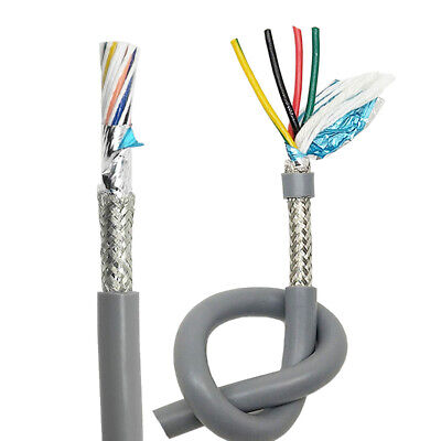 2 3 4 5 6 7 Core Flexible Twisted Cable Signal Wire 0.15mm-2.5mm Double Shielded