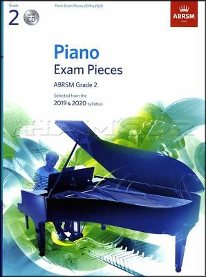 ABRSM Piano Exam Pieces 2019 2020 Syllabus Grade 2 Sheet Music Book and CD