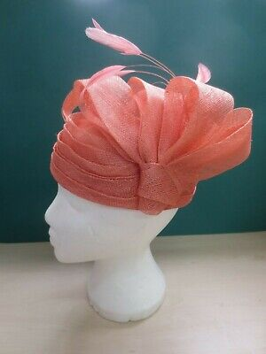 Headways Frank Usher Coral Special Occasion Wedding Mother Of The Bride Hat 27C