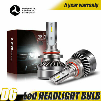 Pair 4-Sides 9006 HB4 12000LM LED Headlight Kit Low Beam Power Bulbs 6000K White