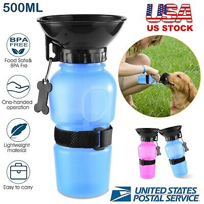 Cup Dog 500ml Bottle Water Travel for Drink Portable Puppy Dispenser Feeder Pet