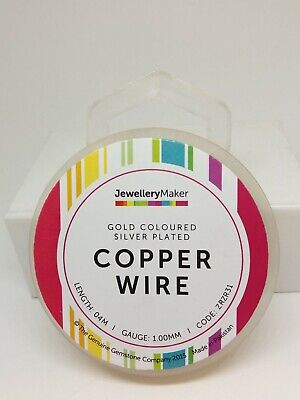 Jewellerymaking//Craft Wire 10m x0.6mm Champagne Gold Colour Silver Plated Copper