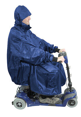 Waterproof Mobility Scooter Poncho - Waterproof rain cover for mobility scooter.