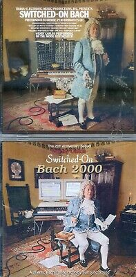 2 CDs Wendy Carlos - Switched-On Bach + Switched-On Bach 2000 (JEWEL CASE)