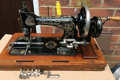 Antique Frister and Rossmann model Number 10 Handcrank Sewing machine