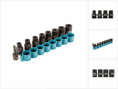 MAKITA B 54645 9Pc Impact Wrench Socket Set Inc 1/4 1/2 Sq Adapter