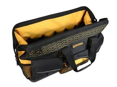 """ROUGHNECK 24"""" 600mm Heavy Duty Hard Base Wide Mouth Tool Bag Case RNKWMTB24"""