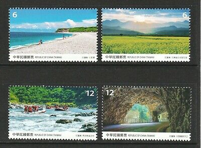 Rep. Of China Taiwan 2019 Scenery Hualien County Comp. Set Of 4 Stamps In Mint