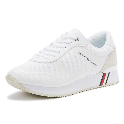 Tommy Hilfiger Active City Womens White Trainers Ladies Sport Casual Shoes