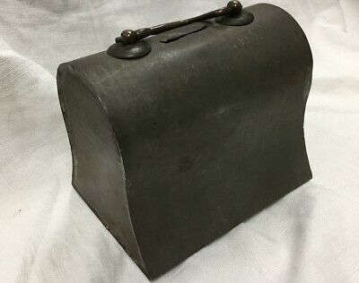 Vintage Tin Bank With Handle