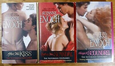 """Lot Of 3 """" Suzanne Enoch """" The Complete Notorious Gentleman Seris After The Kiss"""