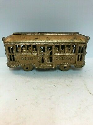 "Cast Iron ""Main Street Trolley"" with people, A.C. Williams, 1920's"