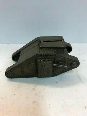 "Cast Iron "" US Tank Bank"" Still Bank 1919"