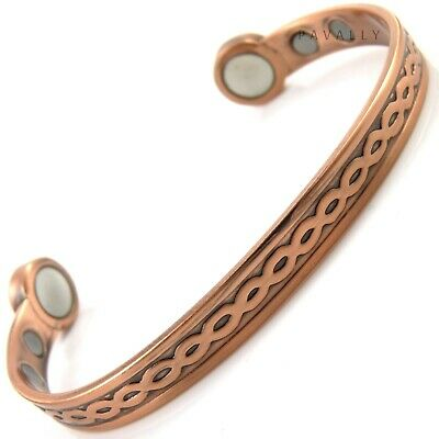 LARGE COPPER EXTRA STRONG MAGNETIC BRACELET bangle carpal tunnel arthritis NEW