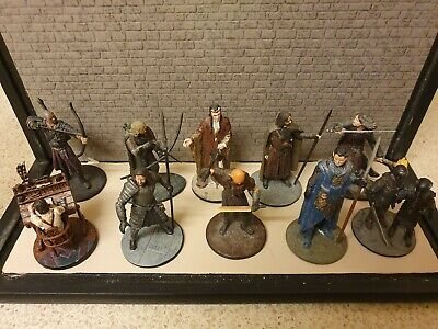 10 Nickel Plated Lead Lord Of The Rings Figures