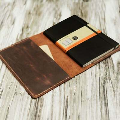 """Refillable Leather Journal cover for moleskine classic notebook Volant 5 x 8.25"""""""
