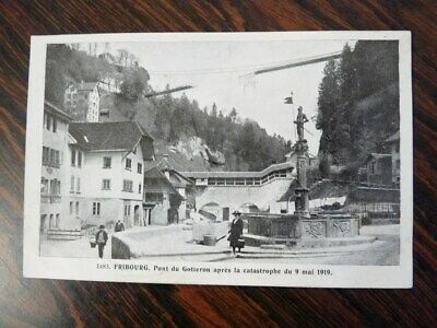 CPA Fribourg - Catastrophe Pont (23927)