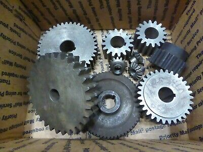 Industrial Machine Gears Miter , Cogs & Others Vintage Steampunk Art Mixed