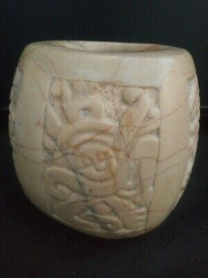 Pre Columbian 4 Panal Teotihuacan Stone Bowl w/Documentation