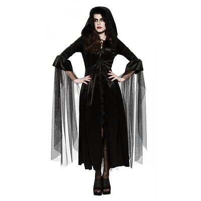 Vampire Dress Adult Gothic Widow Costume Halloween Fancy Dress