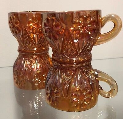 Vintage Carnival Glass Imperial Four Seventy Four Punchbowl Cups Sold Separately