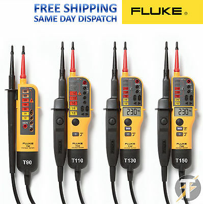 Fluke T90/T110/T130/T150 Voltage and Continuity 2 Pole Testers 2019 EditIon