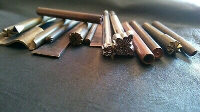 Lot of Vintage Leather craft Punch Tools
