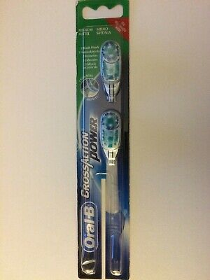 2 Oral B CrossAction Power Replacement Heads  ~ New / Sealed