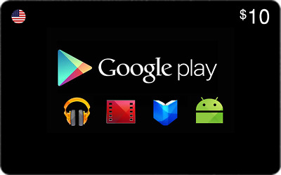 $10 Google Play Cards (US) [Email Delivery]