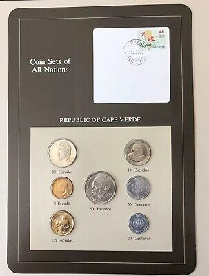 Coin Sets of All Nations Cape Verde 1977-1982 UNC w//card