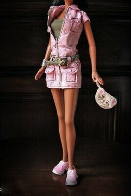 Lea fashion fever outfit Pink dress top bag shoes fits Barbie