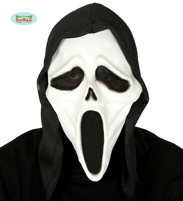 Halloween Costume Fantasma Maschera & Cappuccio Lattice Scream Tipo con Fg