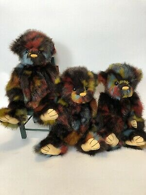 SPLODGE Charlie Bears new picture exact bear 12 inch beautiful pattern.