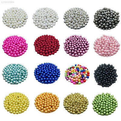EEFF 100Pcs Round Pearl Beads Loose Spacer Acrylic Beads for Jewelry Making