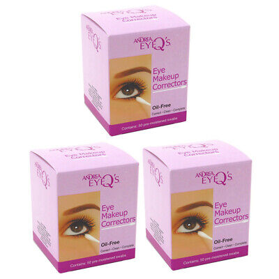 Andrea Eyeq's Oil-free Eye Make-up Correctors Pre-moistened Swabs, 50-Count (Pac
