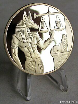 Anubis - Egyptian God of the Dead - Libra Pyramid Collectible Challenge Coin